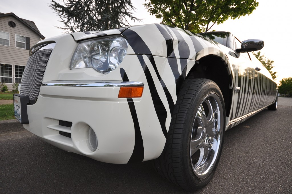Zebra Striped Limousine in Portland